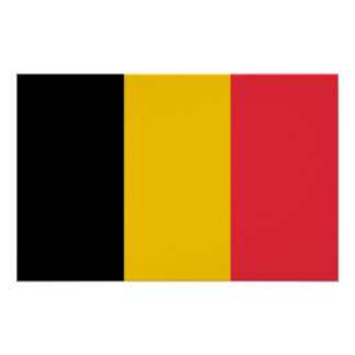 Poster with Flag of Belgium