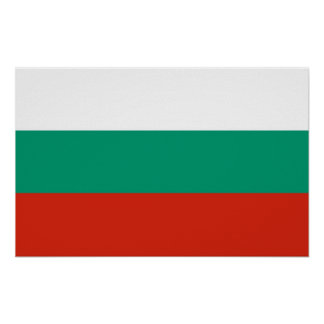 Poster with Flag of Bulgaria
