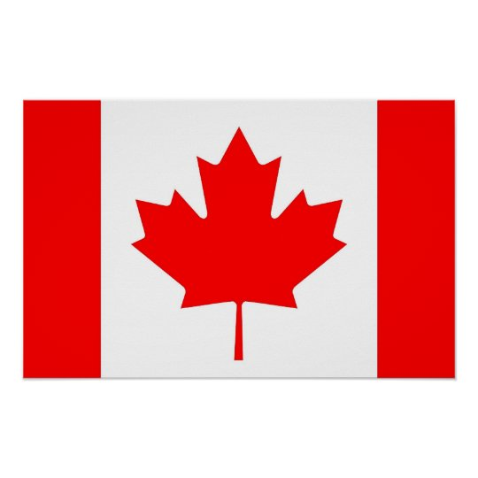 Poster with Flag of Canada