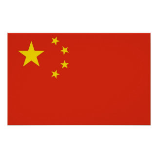 Poster with Flag of China