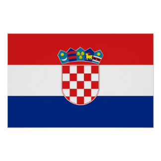 Poster with Flag of Croatia