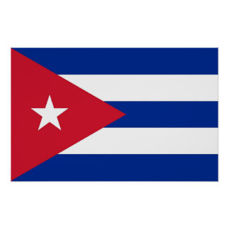 Poster with Flag of Cuba