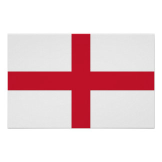 Poster with Flag of England