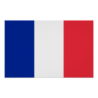 Poster with Flag of France