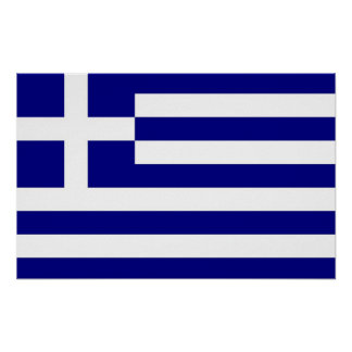 Poster with Flag of Greece