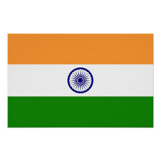 Poster with Flag of India