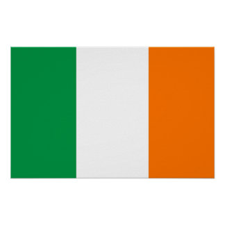 Poster with Flag of Ireland