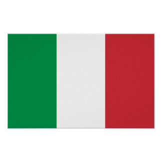 Poster with Flag of Italy