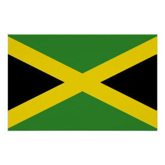 Poster with Flag of Jamaica