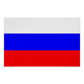 Poster with Flag of Russia