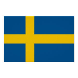 Poster with Flag of Sweden