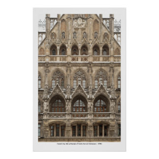 Poster with Gothic Revival Architecture