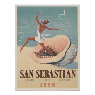Poster with San Sebastian Advertising Print