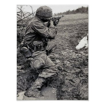 USA Themed Poster with USA Army in Vietnam
