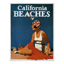 Poster with Vintage California Print