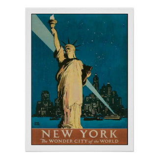 Poster with Vintage New York Poster Print
