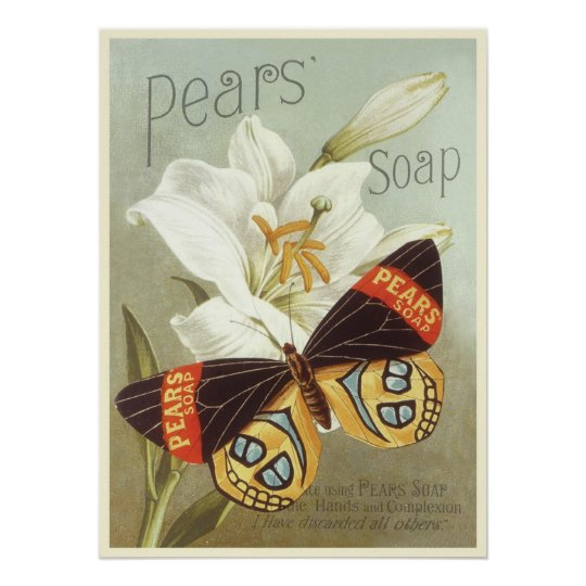 Poster with Vintage Pears Soap Print