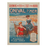 Poster with Vintage Poster Print from France