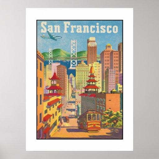poster with vintage san francisco motive zazzle. Black Bedroom Furniture Sets. Home Design Ideas