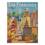 Poster with Vintage San Francisco Motive