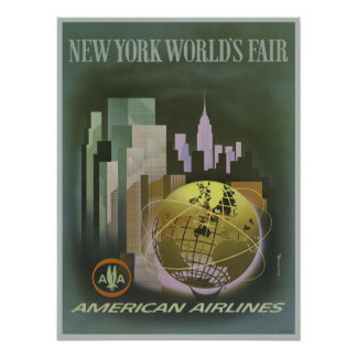 Poster with Vintage World s Fair Poster Print
