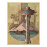 Poster with Vintage World's Fair Poster Print