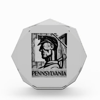 Poster WPA 1938 del carbón de Pennsylvania