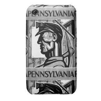 Poster WPA 1938 del carbón de Pennsylvania iPhone 3 Case-Mate Protector