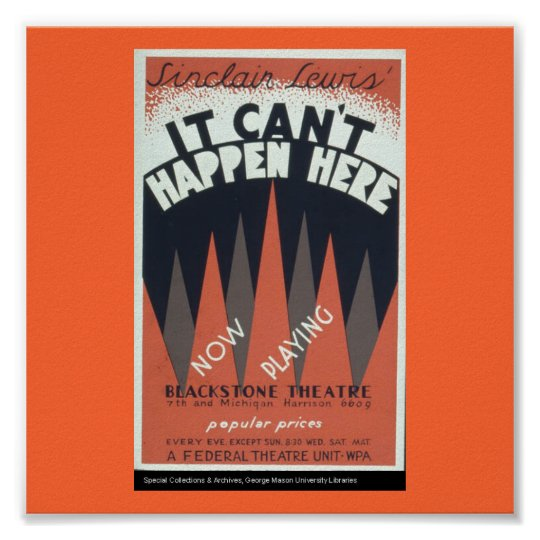 Poster-WPA Chicago-It Can't Happen Here 2 Poster