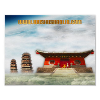 Poster Wushu Shaolin Productions 8.5 by 11
