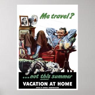 Poster WW2 de las vacaciones en casa