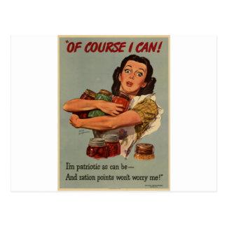 Poster WW2: ¡por supuesto, puedo! Postal