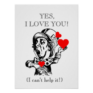 POSTER -YES I LOVE YOU!  18 x 24""