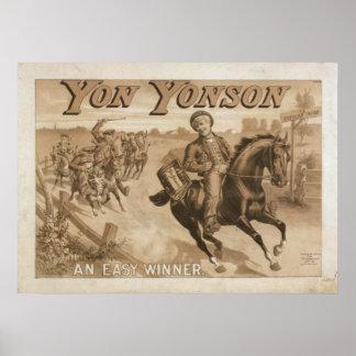 Poster YON del VODEVIL del acto del juego de YONSO