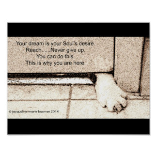 Poster - You Can Do It with Cat Paw