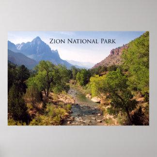 Poster:  Zion National Park, Utah