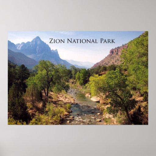 Poster: Zion National Park, Utah Poster  Zazzle