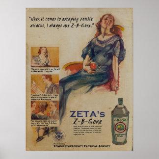 Poster Zombi-B-Ido del anuncio del aerosol