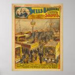 Poster zoológico del circo de las maravillas de lo