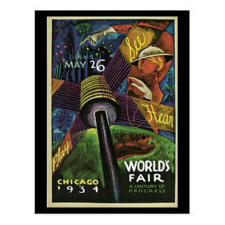 Postercard-Chicago World's Fair-1934 Postcard