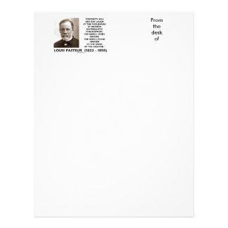 Posterity Materialistic Philosophers Pasteur Quote Letterhead