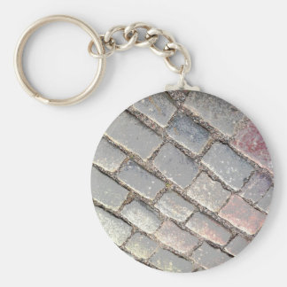 Posterized Cobbles Keychain