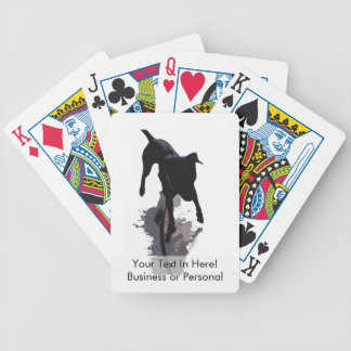 posterized dog and shadow bicycle playing cards