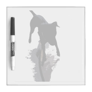 posterized dog and shadow dry erase board