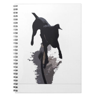 posterized dog and shadow spiral notebook