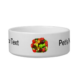 Posterized Hot Pepper Assortment Picture Bowl