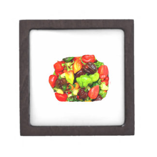 Posterized Hot Pepper Assortment Picture Gift Box