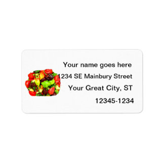 Posterized Hot Pepper Assortment Picture Label