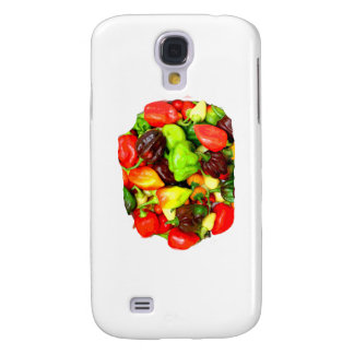 Posterized Hot Pepper Assortment Picture Samsung Galaxy S4 Case