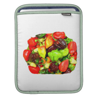 Posterized Hot Pepper Assortment Picture Sleeve For iPads